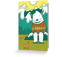 The Big 3: Yeti Greeting Card