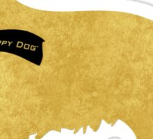 Preppy Golden Retriever - Black Winter Scarf Sticker