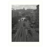 Main street in Gothenburg Art Print