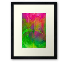 "Magnolia (from ""Painted flowers"" collection) Framed Print"