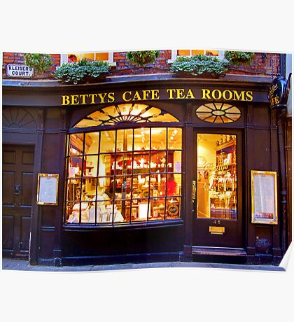 Bettys Tea Room - Stonegate York Poster
