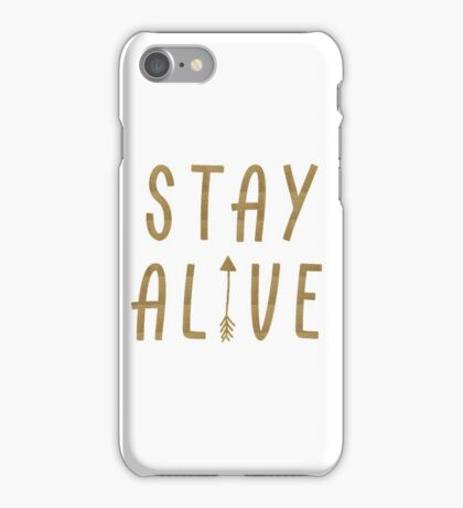 Stay Alive - Hunger Games (Gold) iPhone Case/Skin