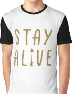 Stay Alive - Hunger Games (Gold) Graphic T-Shirt