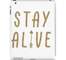 Stay Alive - Hunger Games (Gold) iPad Case/Skin