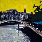 Hapenny Bridge &amp; Boardwalk, Dublin by eolai