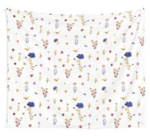 flowers watercolor  Wall Tapestry