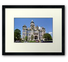 Route 66 - Jasper County Courthouse Framed Print