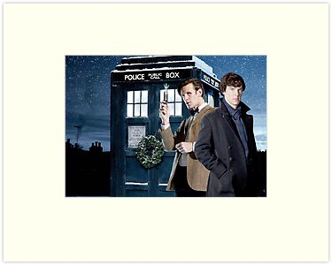 Sherlock And DW Christmas  by drawingdream