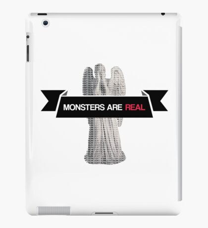 monsters are real (weeping angel version 2) iPad Case/Skin