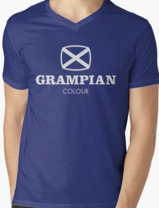 Grampian retro TV logo  Mens V-Neck T-Shirt