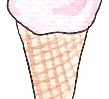 Watercolor sweet | Ice-cream | Pastel color by likorbut