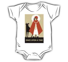 Naive Art Deco Little Red Riding Hood One Piece - Short Sleeve