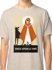 Naive art deco Little Red Riding Hood Classic T-Shirt