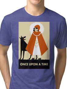 Naive Art Deco Little Red Riding Hood Tri-blend T-Shirt