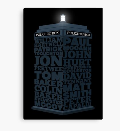 Name of the Doctors Canvas Print