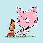 Pumpkin Wagon Piggy by pigandpumpkin