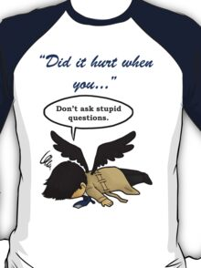Did it hurt when you fell from Heaven? T-Shirt