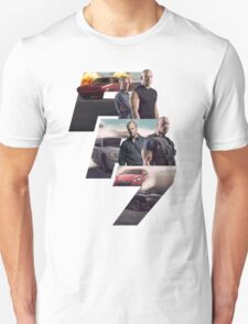 Fast Furious 7 Movie Poster T-Shirt