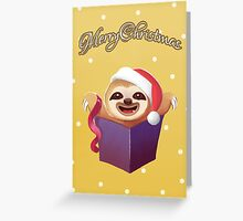 Christmas Gift Baby Sloth Greeting Card