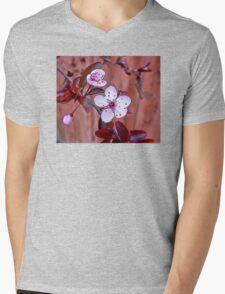 Mock Plum Blossoms Mens V-Neck T-Shirt