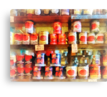 Canned Tomatoes Canvas Print