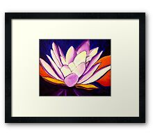 Glowing Loutus Framed Print