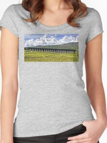 Ribblehead Viaduct Women's Fitted Scoop T-Shirt