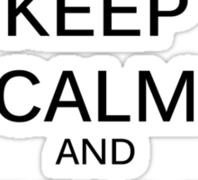 Keep Calm Halo Sticker