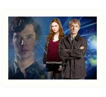 Sherlock,Amy and John Art Print