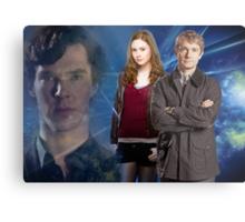 Sherlock,Amy and John Metal Print