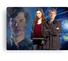 Sherlock,Amy and John Canvas Print