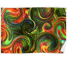 Day Lily Abstract Labyrinth Poster