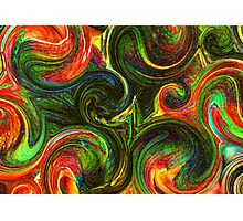 Day Lily Abstract Labyrinth Photographic Print
