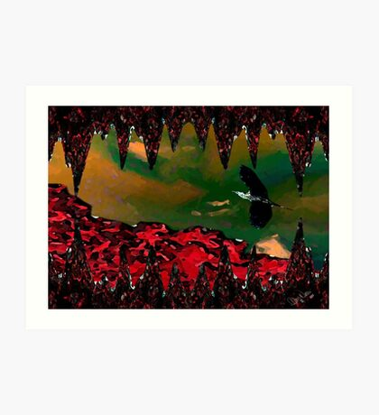 DVT Mountain w/Sunset Heron Art Print
