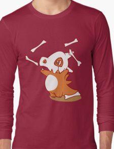 Cubone pokemon dinosaur Long Sleeve T-Shirt