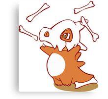 Cubone pokemon dinosaur Canvas Print