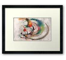 Abstract red ball Framed Print