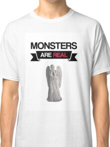 monsters are real (weeping angel version 1) Classic T-Shirt