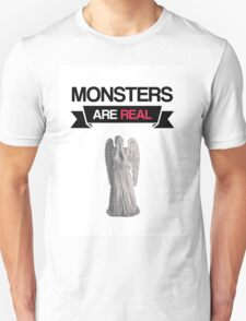 monsters are real (weeping angel version 1) Unisex T-Shirt