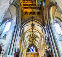 The Interior of the Southwark Cathedral  by PictureNZ