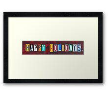 Happy Holidays License Plate Art Framed Print