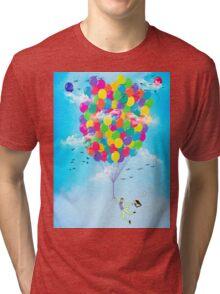 Neon Flight Tri-blend T-Shirt