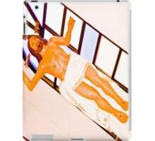 Jesus naked, as my soul. iPad Case/Skin