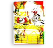 art, gonzo, abstraction Canvas Print