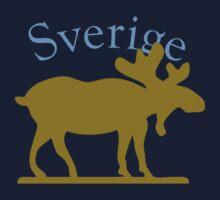 Sverige Moose Kids Clothes