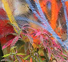 Cadillac Ranch Abstract with Painted Plant by reneecettie