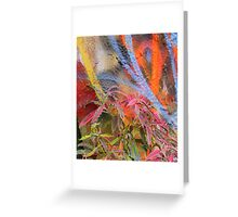 Cadillac Ranch Abstract with Painted Plant Greeting Card