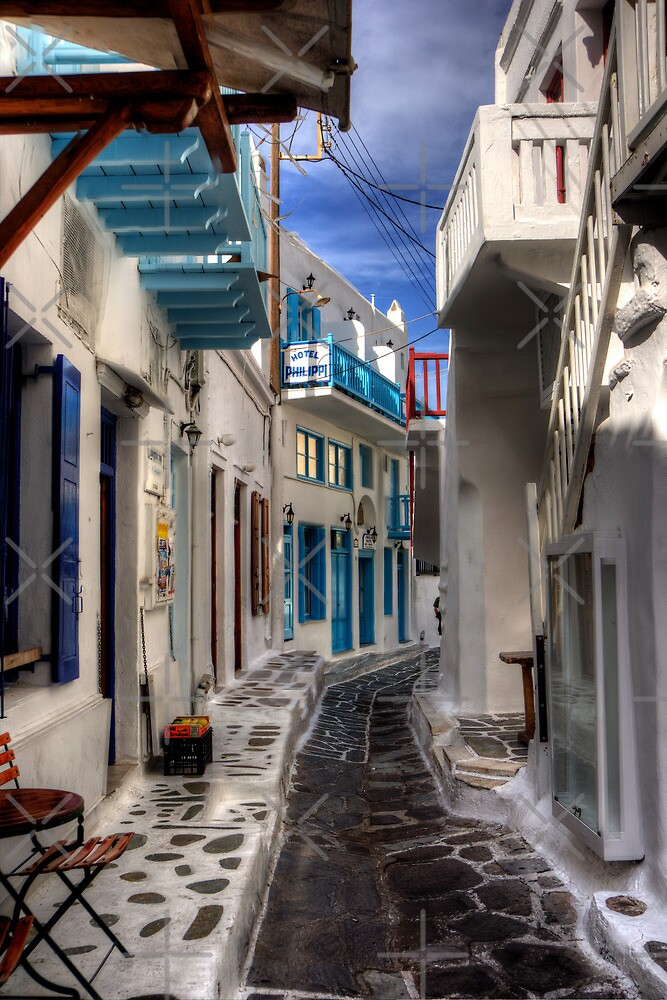 Mykonos Street by Tom Gomez