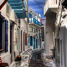 Mykonos Street by Tom Gomez