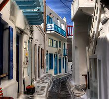 Lanes of Mykonos by Tom Gomez
